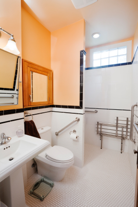 A walk in tub could be the perfect addition to make your bathroom handicap accessible.