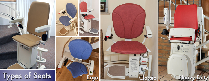 Types Curved Stair Lift Seats
